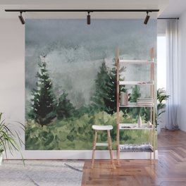 Pine Trees 2 Wall Mural