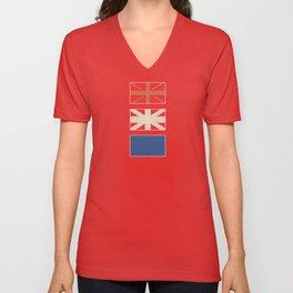 Union Jack Deconstructed Unisex V-Neck