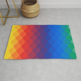Rainbow geometric pattern Rug