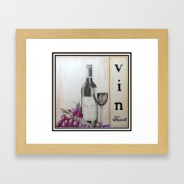 Wine, Wine, Wine Framed Art Print