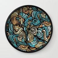 vertigo Wall Clocks featuring Vertigo by James Ordell
