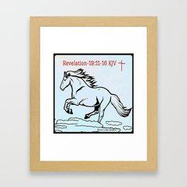 Revelation 19:11=16 KJV Framed Art Print