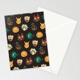 pattern of masks.  Stationery Cards
