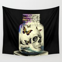 rockabilly Wall Tapestries featuring Sink or swim by Kristy Patterson Design