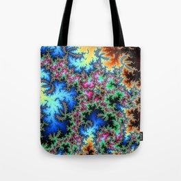 Peacock feathers on Acid - fractal art Tote Bag