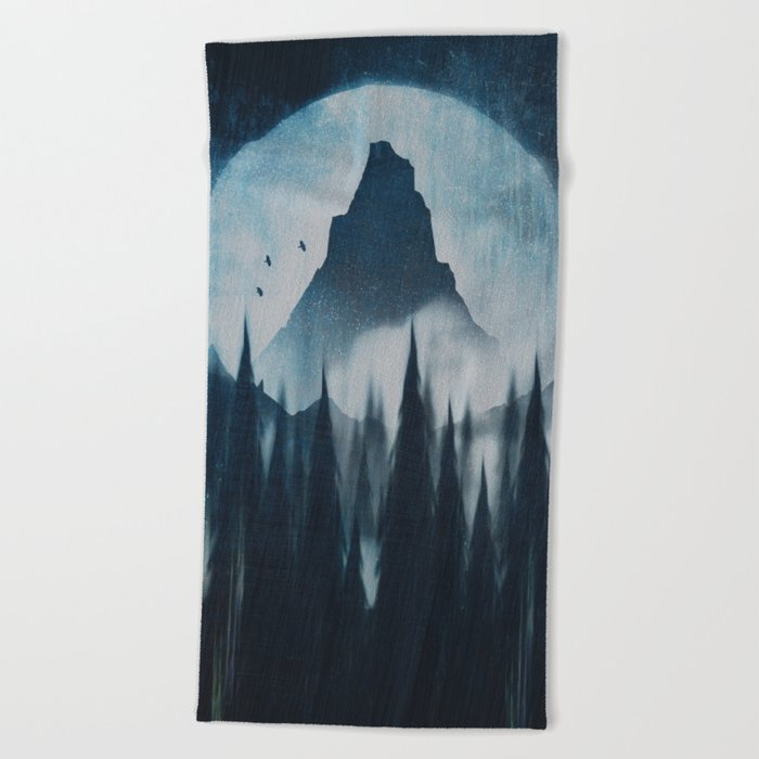 Find your mountain Beach Towel