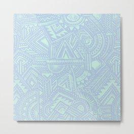 Watercolor Tribal - Hydrangea Metal Print