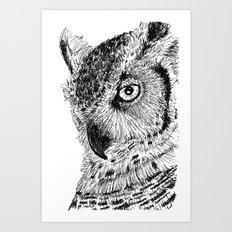 Ink Owl Art Print