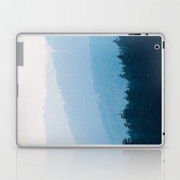 Parallax Mountain Hills Blue Hues Minimal Modern Landscape Photo Laptop & iPad Skin