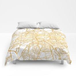BRUSSELS BELGIUM CITY STREET MAP ART Comforters