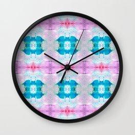 Chapel Glass Aqua & Orchid Wall Clock