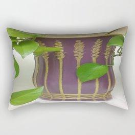 Purple N Gold, Hand-painted Glass Vase Rectangular Pillow