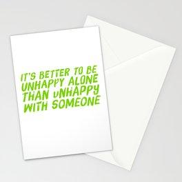 I Stay Alone Stationery Cards