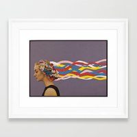 candy Framed Art Prints featuring wave by Canson City