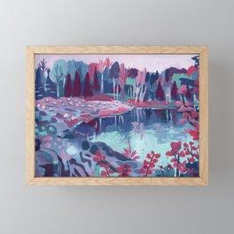 Fairy Lake - Abstract Landscape #9 Framed Mini Art Print