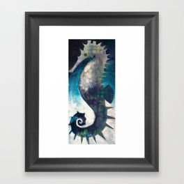 Love like a Seahorse Framed Art Print