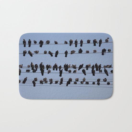 Black Birds Bath Mat