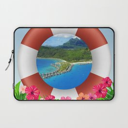 Bora Bora Island Dream Laptop Sleeve