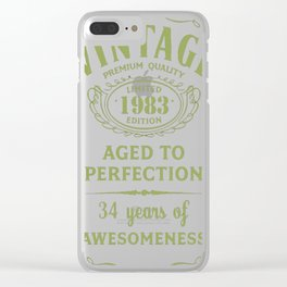 Green-Vintage-Limited-1983-Edition---34th-Birthday-Gift Clear iPhone Case