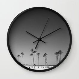 Palm Tree Beach Wall Clock