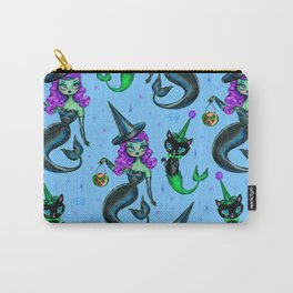 Mermaid Witch with Merkitten Carry-All Pouch