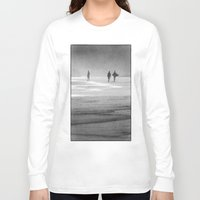 south africa Long Sleeve T-shirts featuring Surfing South Africa by David Turner