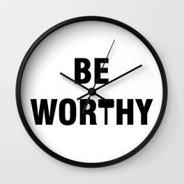 Be Worthy Mjolnir Phrase Wall Clock