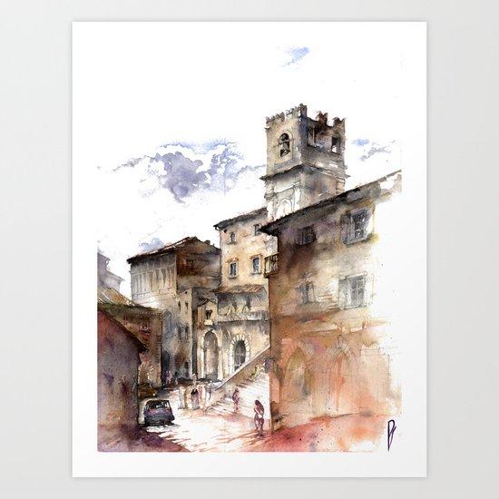 Cortona, Italy Art Print