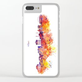 Athens Skyline Clear iPhone Case