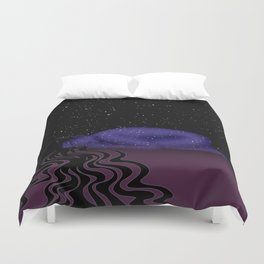 Nuit, The Lady of the Stars Duvet Cover