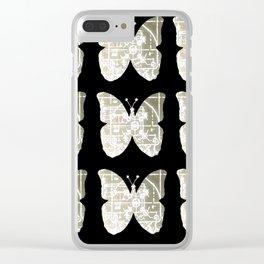 High Tech Butterflies 3 Clear iPhone Case
