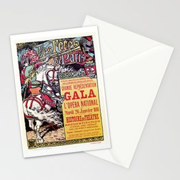 Medieval Gala Opera Paris 1886 Stationery Cards
