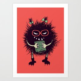 Evil Bug Student Loves To Read Art Print