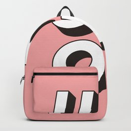 UM OK Pink Black and White Typography Print Funny Poster 3D Type Style Bedroom Decor Home Decor Backpack