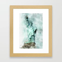Statue of Liberty painting Framed Art Print