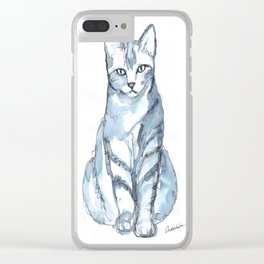 Cat with Stripes Clear iPhone Case