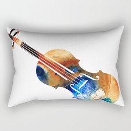 Violin Art By Sharon Cummings Rectangular Pillow