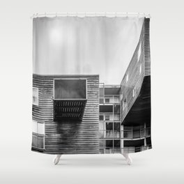 Building in Amsterdam Shower Curtain