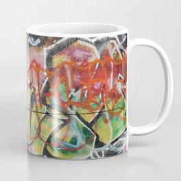 found street art urban graffiti layers texture pattern lettering portrait Coffee Mug