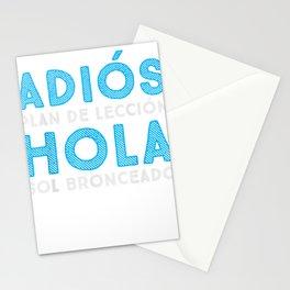 Last Day of School | Spanish Teacher | Goodbye Lesson Plans T-Shirt Stationery Cards