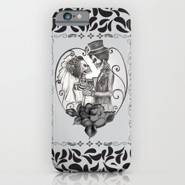 Skeleton Couple Marriage Dance iPhone Case