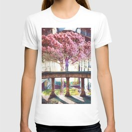 Abandoned Tree in an Abandoned Warehouse T-shirt