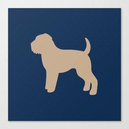 Wheaten Terrier (Navy/Tan) Canvas Print
