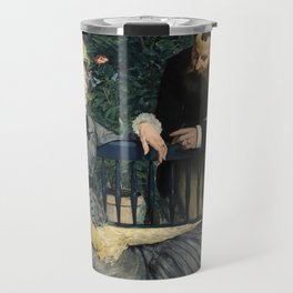 Edouard Manet - In the Conservatory Travel Mug