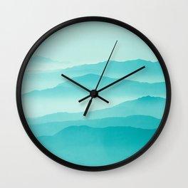 mint sunrise layers Wall Clock
