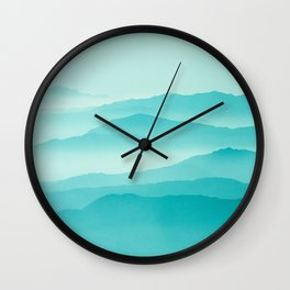 mint sunrise layers Wall Clock