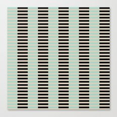 Tan Black Mint Checkerboard Canvas Print