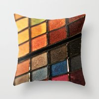 make up Throw Pillows featuring Make up by lescapricesdefilles