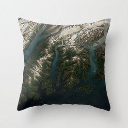 Columbia Bay, Prince William Sound, Alaska Throw Pillow