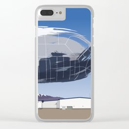 GHOST SHUTTLE Clear iPhone Case